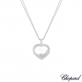 Chopard White Gold Happy Diamonds Necklace 79/9202-1003